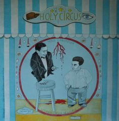 Holy Circus n.1, matite su cartone, 70x70 cm, 2015