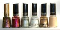 Revlon- JungleZing, CherryZing, Silver Star, Metallic Silver, Copperglaze Platinum and White Whisper