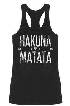Hakuna Matata Racerback Tank Top