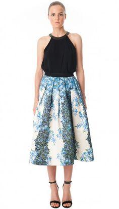 Sidewalk Floral Full Skirt