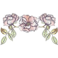 Rose Bloom Wall Decal ($40) ❤ liked on Polyvore featuring home, home decor, wall art, fillers, flowers, art, backgrounds, decor, embellishments and borders