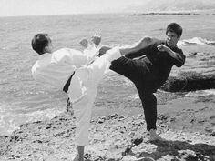 """""""Bruce Lee Sparring With Jhoon Rhee, i.e., The Founder of Olympic Style Tae Kwon Do, or In Other Words Kyorugi."""""""