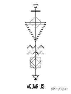 'Aquarius Astrology - Zodiac Arrow' Photographic Print by alcateiaart Astrology Tattoo, Aquarius Tattoo, Horoscope Tattoos, Aquarius Sign, Astrology Aquarius, Zodiac Sign Tattoos, Aquarius Constellation Tattoo, Arrow Tattoos, Dog Tattoos