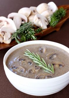 This Creamy Marsala Mushroom Soup is the perfect weeknight or weekend dinner!