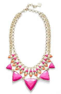 This stunning statement necklace is sure to turn heads.