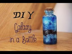 DIY: Galaxy in a Bottle - Bottle Nebula/ Galaxy in a Jar Hey, guys! In this video I am showing you how to make a Galaxy in a Bottle - easy and amazing! Bottle Jewelry, Bottle Charms, Bottle Necklace, Galaxy In A Bottle, Galaxy In A Jar, Diy Galaxy Jar, Galaxy Bottles, Diy Galaxie, Garrafa Diy