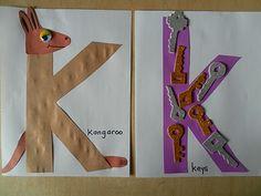 K for kangaroo and keys