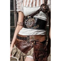 Steampunk Clock Belt (360 PLN) ❤ liked on Polyvore featuring accessories and belts