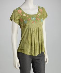 Take a look at this Moss Kayla Shirttail Top by Scrapbook Originals on #zulily today!