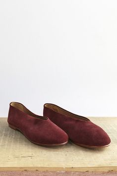f2c0cde8c200 Creatures of Comfort Fred Shoe in Wine Suede Loafer Flats, Loafers,  Comfortable Shoes,
