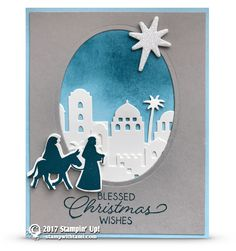 ONLINE CLASS & VIDEO: Night in Bethlehem Christmas Card | Stampin Up Demonstrator - Tami White - Stamp With Tami Crafting and Card-Making Stampin Up blog