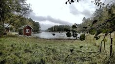 Old red sauna. Archipelago. Finland