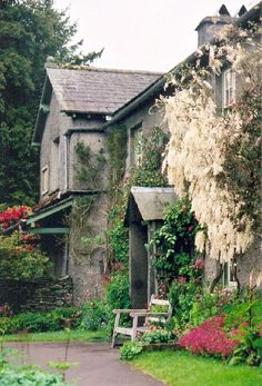 HILLTOP - BEATRIX POTTER'S HOME, near Sawrey, Cumbria, England –  now owned by the National Trust and preserved as it was when she lived and wrote her stories there.
