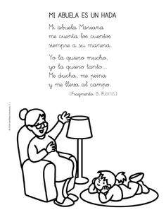 Grandparents Day Poem, Spanish Immersion, Spanish Classroom, Mom Day, Hello Kitty, Preschool, Teacher, How To Plan, Motivation
