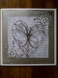 Memory box heart die card