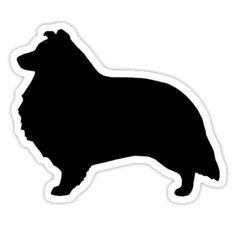 Shetland Sheepdog Silhouette Waterproof Die-Cut Sticker