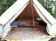 Inside the First Bell Tent