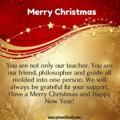 Lovely christmas greeting messages for teachers merry christmas christmas messages for teachers m4hsunfo