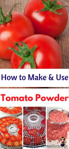 How to Make & Use Tomato Powder - a great way to preserve tomatoes & save space!