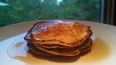 I've finally perfected my low carb, gluten free pancakes! Yummy and delicious.