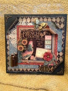 G45's French Country...12 x12 Altered Canvas