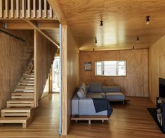 A notional shed on a jetty was the inspiration for this impressive bach above a beach on Kawau Island. Sam Caradus of Crosson Architects discusses the build Contemporary Architecture, Interior Architecture, Wooden Ramp, Timber Staircase, Stairs, Big Doors, Old Garage, Beachfront Property, House And Home Magazine