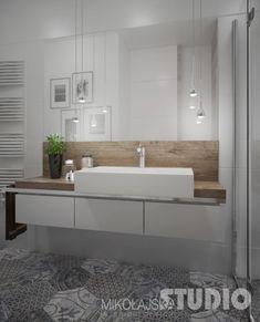 Projekt Mieszkanie Przy Marymonckiej - MIKOŁAJSKAstudio Bathroom Interior Design, Modern Interior Design, Bathroom Inspiration, Home Projects, Decoration, Sweet Home, Home And Garden, House Design, Flooring