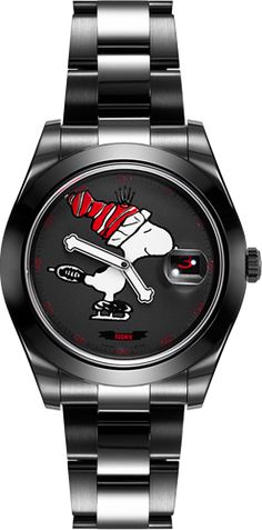 Bamford Watch Department – Customised Luxury Watches – Black Rolex MGTC   –  SNOOPY – HOME