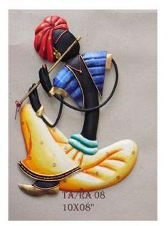 Rajasthani Musician Wall Hanging Set Of 4 – Sarang Clay Wall Art, Mural Wall Art, Murals, Rajasthani Painting, Rajasthani Art, African Art Paintings, Clay Art Projects, Creative Arts And Crafts, Madhubani Art