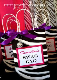 Rock Star Birthday Party Swag Bags ~ www.paperjewelsdesigns.com