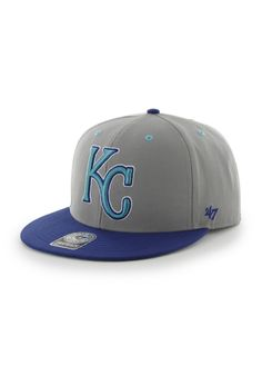 low priced 684a0 76ebb Kansas City Royals  47 Brand Mens Grey Maxim Two-Tone Snapback Hat http