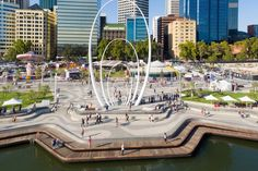 Elizabeth Quay by TCL in collaboration with ARM Architecture « Landscape Architecture Works Floating Architecture, Water Architecture, Landscape Architecture Drawing, Urban Architecture, Commercial Architecture, Landscape Model, Park Landscape, Urban Landscape, Landscape Design