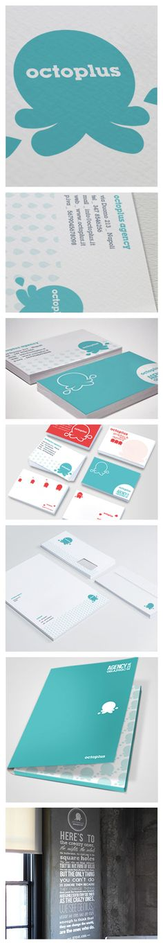 Octoplus Agency #stationary suite and adorable logo design