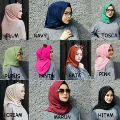 Jilbab instan / Hijab/Jilbab Instan Salwa diamond crepe