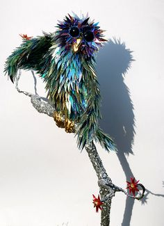 WOW! This is made out of C.D.'s!!  Sean Avery CD sculptures