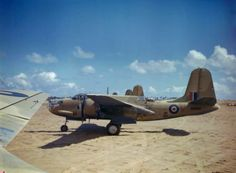 The South African Air Force in Libya, March 1943 Douglas Boston aircraft of No 24 Squadron, South African Air Force lined up at Zuara, Trip. Air Force Aircraft, Ww2 Aircraft, Military Jets, Military Aircraft, South African Air Force, Afrika Korps, Ww2 Planes, Vintage Airplanes, United States Army