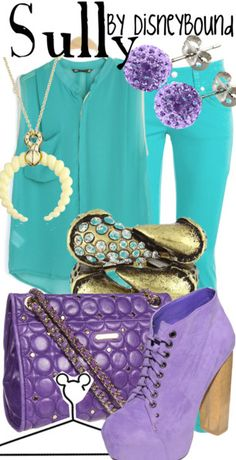 AAAAAHHHHHHHHHHH!!!!!!!!!!!!!!!!!!! THIS IS SO EXCITING!!!!!!!!!!!!!!!!!!!Sully by  Disney Bound Fashion Disney Outfit Monsters Inc