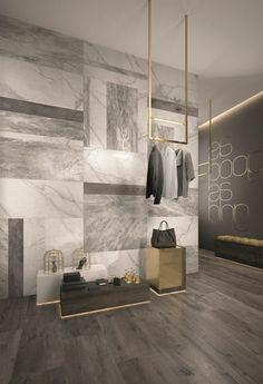 carrelage en marbre mural pour les murs dans le salon