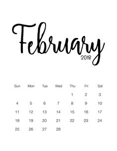 Free Printable 2018 Minimalistic Calendar - The Cottage Market