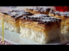 Prajitura cu blat de nuca de cocos | Farfuria vesela - YouTube