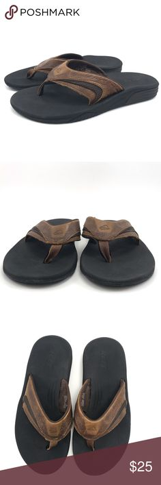 ec1152c2f638 Reef Leather Sandals Mens Size 7 Excellent condition Mens Reef Sandals.  Brown leather upper with