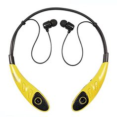Riwbox™ H860 Wireless Bluetooth Sport Stereo Headset Flex Neck Strap Style Earphone Headphone for LG iPhone6 6s Plus iPad SAMSUNG (Yellow+Black) Riwbox http://www.amazon.com/dp/B0164FQ382/ref=cm_sw_r_pi_dp_7Pupwb1XP7M5T