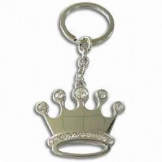 Crown Design Metal Keychains