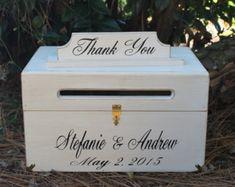 Wedding Card Holder Distressed Card Box by CountryBarnBabe