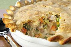 Zesty Chicken Pot Pie recipe. I actually made 2 of these when I saw the 'make ahead' note at the bottom - 1 went into the freezer while the other baked. Soo yummy!!
