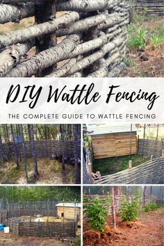 DIY Wattle Fencing: the Complete Guide to Building Wattle Fencing at home. This step by step tutorial will have you making wattle fencing at home in no time! Wattle Fence, Garden Fencing, Garden Landscaping, Farm Fencing, Fenced Garden, Garden Stairs, Homestead Farm, Homestead Gardens, Homestead Homes