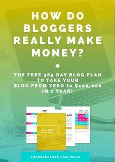 How Do Bloggers Really Make Money?  #bloggingtips #makemoneyonline #blogger #andreabolder