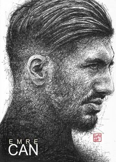 Emre Can: Liverpool FC :black pen drawing. #emrecan #liverpoolfc #football #thisisanfield #lfc #lovelfc #ynwa #picoftheday #matchday #art #drawing