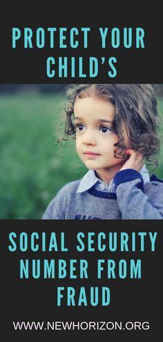 Credit Card Tips - Protect Your Childs Protect Your Childs Social Security Number From Fraud Interest Free Credit Cards, Interest Calculator, Identity Theft Protection, Social Security, Your Child, Number, Children, Tips, Young Children
