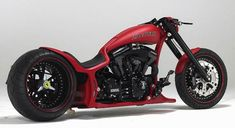 This custom built motorcycle, called Iceman II, was made by Walz Hardcore Choppers of Germany for Formula One world champion Kimi Räikkönen